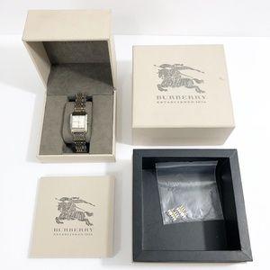 BURBERRY BU1573 Nova Check Two Tone Watch